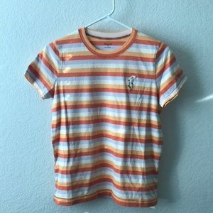 Madewell Striped Embroidered Daisy T-Shirt Small